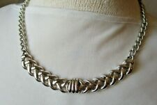 MONET Open Braided Bar Pendant Chain Necklace  Textured Chain Link