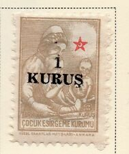 Turkey 1950-52 Early Issue Fine Mint Hinged 1k. Surcharged 085759