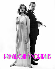 """SEAN CONNERY & DANIELA BIANCHI 8x10 Lab Photo 1963 """"FROM RUSSIA WITH LOVE"""" B&W"""