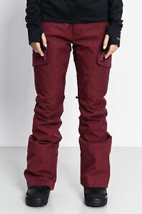 NWT WOMENS BURTON GLORIA SNOWBOARD PANTS $180 Sangria/Red slim style