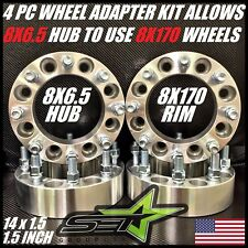 "8 X 6.5 TO 8 X 170 WHEEL ADAPTERS | SPACERS | PUT FORD WHEELS ON CHEVY 1.5"" INCH"