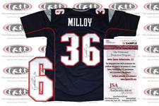 Lawyer Milloy Signed New England Custom Pro Style Jersey JSA Witnessed