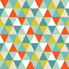 Everybody Bonjour 128708 Kinder Vlies Tapete Dreieck weiß orange grün blau