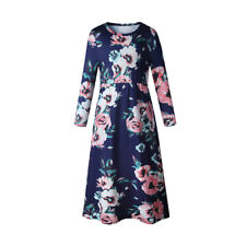 Mother Daughter Dresses Women Kids Girls Floral Long Maxi Dress Matching Clothes