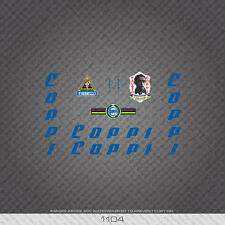 01104 Fausto Coppi Bicycle Stickers - Decals - Transfers - Blue