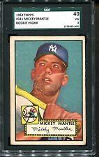 1952 Topps #311 Mickey Mantle Rookie RC SGC 40 3 HOF High # New York Yankees