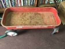 Vintage Radio Flyer 90 Red Wagon Vintage rusty needs restoration - rolls Good