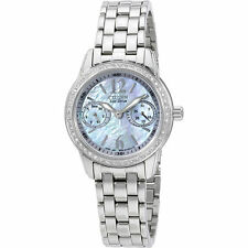 NEW CITIZEN FD1030-56Y WOMEN'S ECO-DRIVE MOTHER OF PEARL SWAROVSKI CRYSTALS