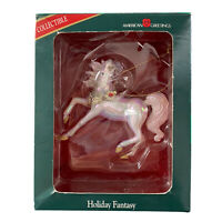 """Collectable Holiday Fancy Unicorn Christmas Ornament American Greetings 3"""" X 3"""""""