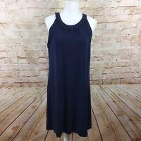 Tommy Bahama Womens Dark Blue Halter Top Sleeveless Dress Size Medium