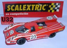 SCALEXTRIC SPAIN PLANETA COCHES MITICOS PORSCHE 917 #23 RED WHITE STRIPES LTED