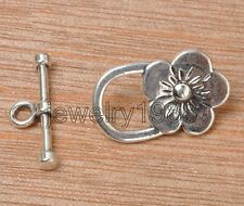 15set Tibetan Silver Buttons Hooks Clasps Connectors Jewellery Accessories F3373