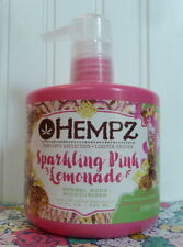 HEMPZ SPARKLING PINK LEMONADE HERBAL BODY MOISTURIZER 17 OZ LIMITED EDITION