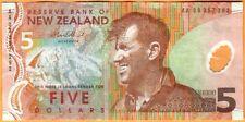 NEW ZEALAND 2009 Very Fine 5 Dollars Banknote Polymer Money Bill P-185b