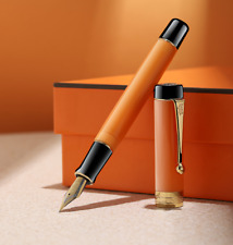 Jinhao Century 100 Acrylic Fountain Pen Medium Nib Yellowish Orange Without Box