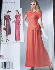 1940s style prom wedding DRESS Bridal Gown pattern sz 14-22 flowing gather wrap