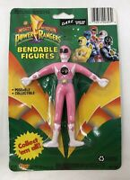 Mighty Morphin Pink Power Rangers Bendable Figure D.A.R.E Gordy Toy NIB