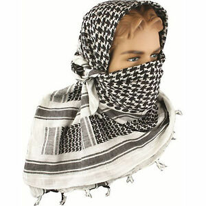 Military Army Shemagh Tactical Desert Keffiyeh Scarf 100% Cotton Scarves Roman