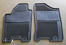 Genuine Nissan Armada 2010-2014 All Season Weather Rubber Floor Mats BLACK 2 Pc