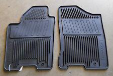 Genuine Nissan Armada 2010-2014 All Season Weather Rubber Floor Mats BLACK 2 Pc
