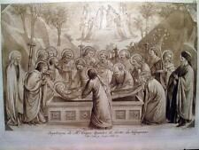 MADONNA,DEPOSIZIONE,ANGELI,APOSTOLI,LASINIO,GIOTTO,INCISIONE,ANTICA,ENGRAVING