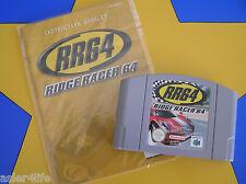 RR64 RIDGE RACER 64 + INSTRUCTION BOOK - NINTENDO 64 - N64