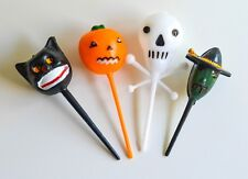 NEW (16) HALLOWEEN VINTAGE RETRO CUPCAKE PICKS TOPPERS-MARTHA BY MAIL (STEWART)