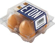 4 ETON Rubber Nest / Pot / Dummy / Fake / Crock Chicken Eggs in Hen Size