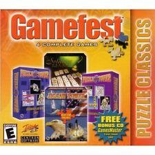 Gamefest: Puzzle Classics (2 CD Set) - Windows 7 / Vista / XP / 95/98 PC 4 Games