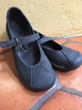 Keen Womens Leather Slip On Mary Jane Shoes Black suede & leather sz 9.5 Eur 40