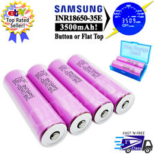 4pc Samsung 3500mAh INR18650-35E 3.7V Rechargeable Battery 13A High Drain - USA
