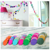 Paper Garland Strings Circle Wedding Party Baby Shower Hanging Decoration Pip