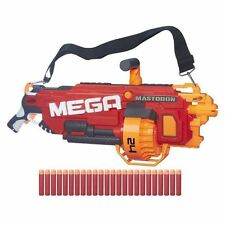 Kids Outdoor Play Nerf N-Strike Motorized Mega Blaster Foam Mastodon Gun
