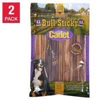 "Cadet 12"" Bully Sticks Real beef 12-count, 2-pack NEW"