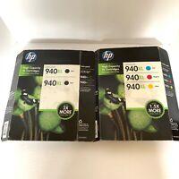 5/PK Genuine HP 940XL 2 Black & 940XL Cyan Magenta Yellow Expire June 2016