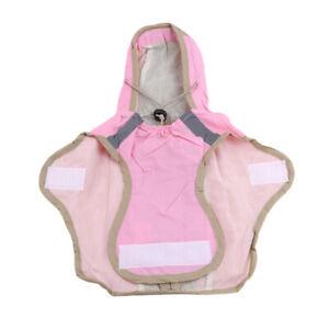 Dog Waterproof Outdoor Raincoat Warm Jacket Fleece Reflective Coat SM