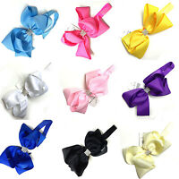 Girls 6'' Extra Large Hairband Bow Soft knot Elastic Band Headband Hair Ribbon