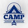 CAMP Outdoor Adventure Camping Camper Blau Auto Vinyl Decal Sticker Aufkleber
