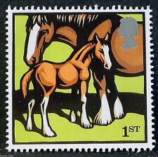 """""""Farm Animals - Mare and Foal"""" illustrated on 2005 Stamp - U/M"""