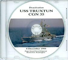 USS Truxtun CGN 35 Deactivation Program 1994 on CD Navy