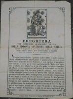 1880 20) INCISIONE CON APPARIZIONE MADONNA DELLA STELLA A SAN LUCA DI MONTEFALCO
