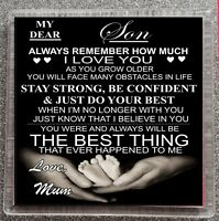 Son Mum Coaster My Dear Always Remember I Love You Mum Novelty Gift Present