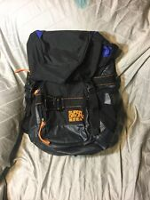 RARE SuperDry Luggage Travel edition Backpack Orange Black Thick Strap Japan