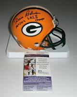 PACKERS Dave Robinson signed mini helmet w/ HOF 2013 & SB I II JSA COA Autograph