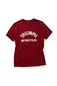 GENUINE Triumph Motorcycles Burnham Logo Print T-Shirt - Red