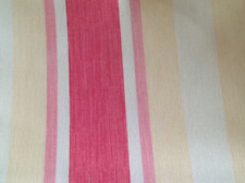 Draught Excluder - Handmade in Laura Ashley Awning Stripe Pink  Grapefruit