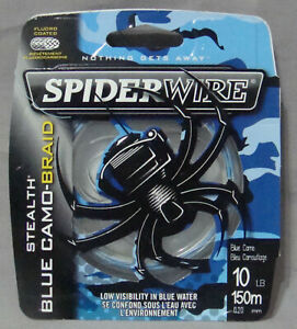 Spiderwire Stealth 10lb x 150m Blue Camo Braid *Free Postage*