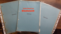 Honda CB550K (1977 >>) Supplementary Shop Manual Addendum CB 550 K K3 Four BZ25