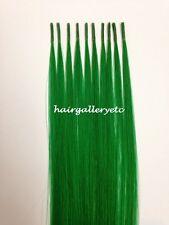 "12"" Keratin I tip 100% Human Hair Extension Silicone micro Beads Hook Loop kit"