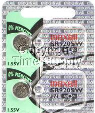 Maxell 371 SR920SW SR920 V371 D371 605 Watch Battery 0% MERCURY ( 2 PC )